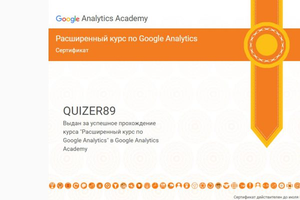 Сертификат 2 Google Analytics Руслан Харченко